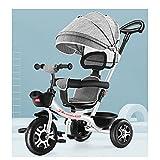 jiji sillas de Paseo Cochecito, para niños Triciclo, Menores de 6 años Luz Bicicleta Bizcocho Bizcocho Cochecitos de automóviles de Almacenamiento Adicional Coche Infantil Cochecito de bebé