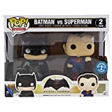 Funko, 7005 – Batman vs Superman: 2 Figuras Pop Vinyl, en versión metálica