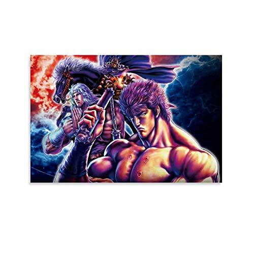 CHAOZHE Fist Of The North Star Hokuto No Ken Pop Kungfu Anime Main Role Stampa Poster Wall Art Tela Regali Camera da Letto Salotto Decorazione Moderna Casa 40x60cm