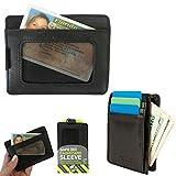 Travelon RFID Blocking Wallet Cash Credit Card Sleeve Case Genuine Leather ID !