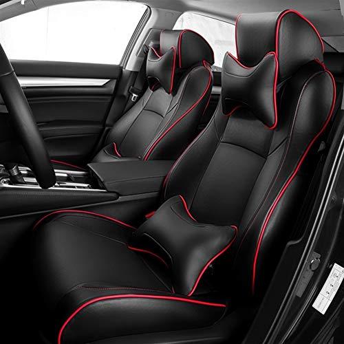 SHENGYUAN Asiento de Microfibra de Cuero Artificial Coche Cubre Cojines del Asiento de Auto Set for Volkswagen Caddy Touareg Polo sedán Passat B3 Caddie Tiguan Tiguan Golf Escarabajo
