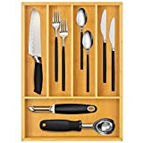 Silverware Utensil Cutlery Tray Bamboo wooden Drawer...