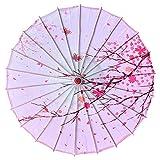 Breakthecocoon Paraguas impreso, paraguas de danza, paraguas decorativo, paraguas de papel de aceite, paraguas pintado (color: G)