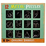 Shopaholic 12 Challenging Metal Puzzles for Kids/Teenagers Age 3+