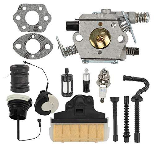Milttor MS250 Carburetor Air Filter Fuel Gas Caps Fit MS 250 Carburetor 021 023 025 MS210 MS230 Chainsaw Walbro WT286 WT-286 1123-120-0603