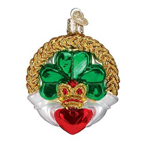Old World Christmas Irish Gift Collection Glass Blown Ornaments for Christmas Tree Claddagh