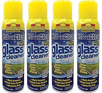 Simoniz Glass Cleaner Aerosol 19 Oz  Pack of 4