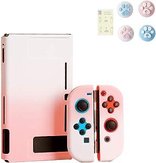 スイッチ ケース 分体式 Nintendo Switch カバー 薄型 Joy-Con用 親指キャップ ニンテンドースイッチ カバー 指紋防止 全面保護 ニンテンド ケース