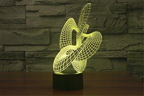 LOTOS® Incroyable effet 3D Illusion optique Ruban 7 changement de couleur Tableau Lampe LED Night Light