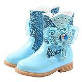 YOSICIL Botas de Niña Botas de Tobillo de Nieve de Suela Blanda Zapatos de Princesa Impermeable Zapatos de Brillante Invierno Felpa Botines Calentar EU27-36