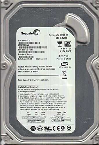 ST3250310AS, 6RY, SU, PN 9EU132-310, FW 4.AAA, Seagate 250GB SATA 3.5 dysk twardy