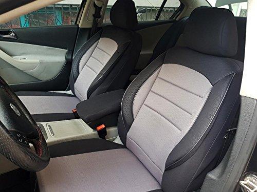 seatcovers by k-maniac Sitzbezüge für Polo 6C Universal schwarz-grau Autositzbezüge Sitzschoner Set Vordersitze Autozubehör Innenraum V736256