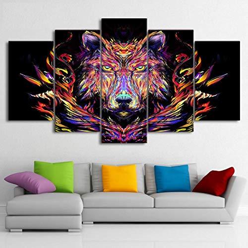 HD-canvas, bedrukt, schilderen, 5-delig, beer, kunstdruk op canvas, dieren, affiches en druk, achtergrond, muur, kunst foto's size:30x40cmx2,30x60cmx2,30x80cmx1