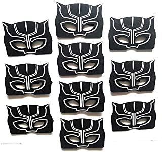 Black Panther Masks For Kids | Pack of 10 | Birthday | Party Favors | Party Supplies | Reusable | Eco Friendly Felt Masks | Great Fit | Black party favor Panther mask for birthday | By InstinctFir