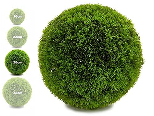TIENDA EURASIA® Bola Artificial de Decoracion - Seto Artificial Decorativo - Ideales para Interiores y Exteriores (Verde, 28 cm)