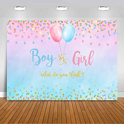 Gender Reveal Hintergrund Banner, Pink und Blau Gender Reveal Banner, Vinyl professionelle Fotografie Hintergrund Material, für Gender enthüllen Party, Fotografie, Babypartys - 150 x 210 cm