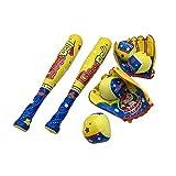 2 Set Baseball Toys With Backpack Bag,Baseball Bat and Balls For Toddlers, Baseball Gifts For Boys,Soft Foam Baseballs Toys,2 x Plastic Baseball Bat, 4 x Foam Balls,2 x Baseball Glove,1 x Backpack Bag