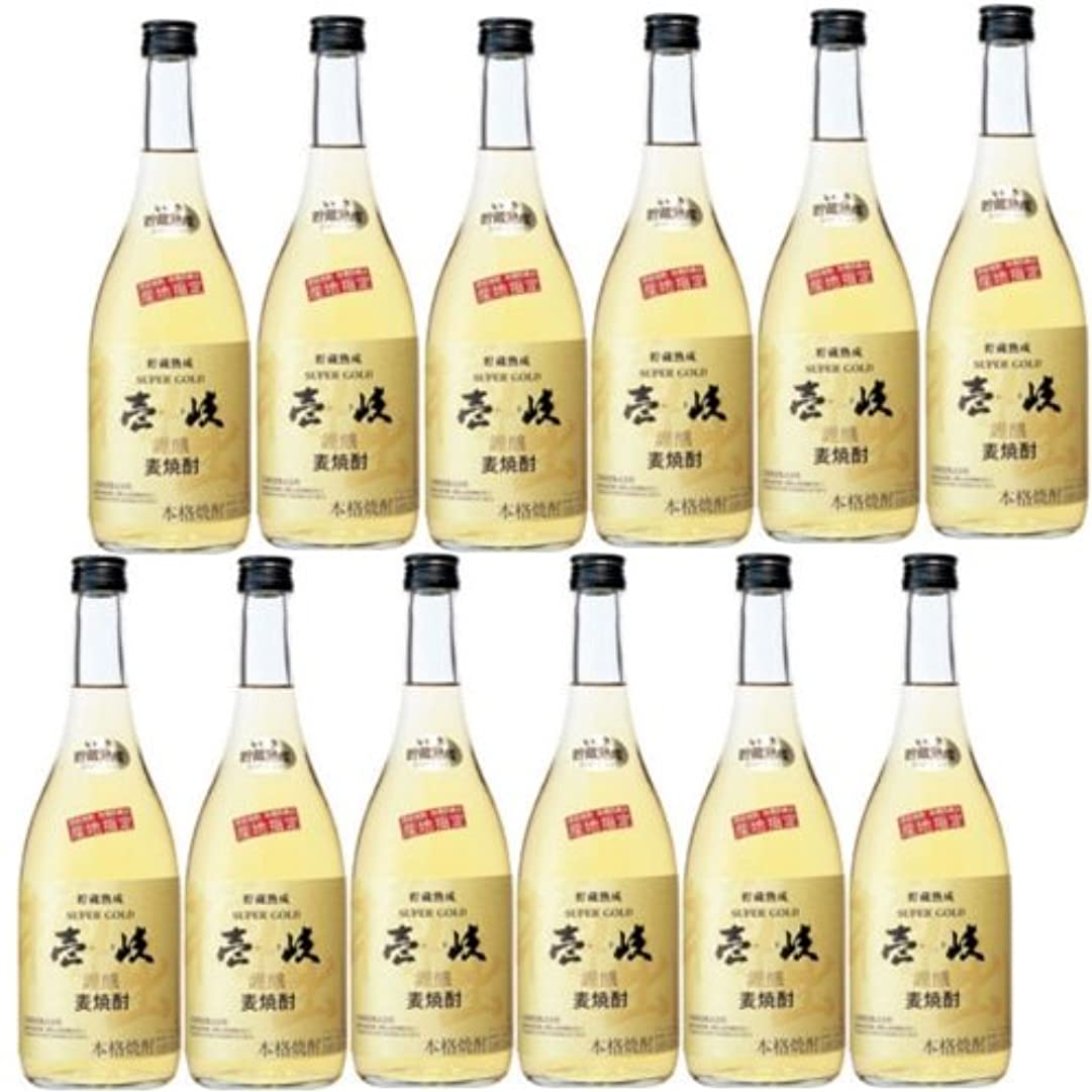 復活させるこれらノート壱岐麦焼酎 壱岐スーパーゴールド22度720ml瓶 1ケース(12本)