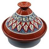 Etnico Arredo Tajine Pentola Terracotta Piatto Decorato Marocchino Tunisino L 27cm 3010201113