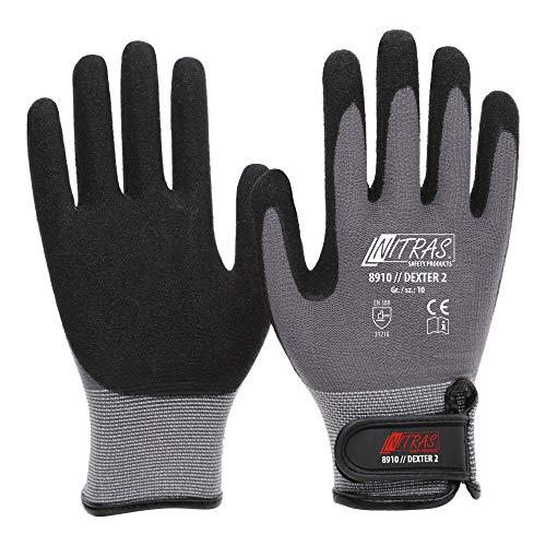 NITRAS Mechaniker Handschuhe 10, 6 Paar Mechanikerhandschuhe, Arbeitshandschuhe