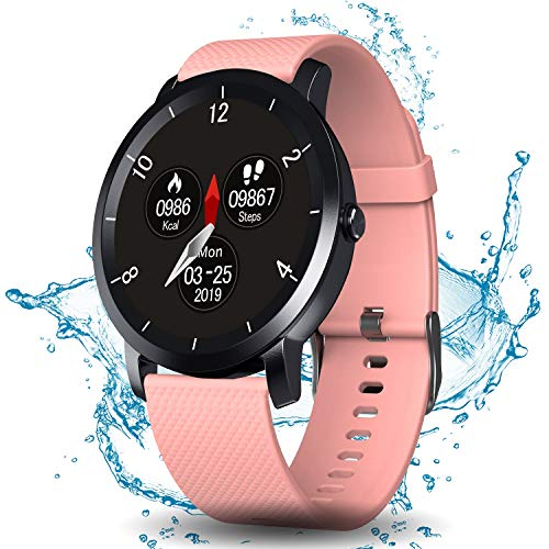 DoSmarter Fitness Tracker Watch with Heart Rate and Blood Pressure Monitor for Man Woman, Waterproof Sports Running Watch with Pedometer Calories Counter Compatible with iOS,Android Phone