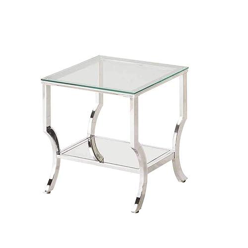 Chrome End Tables Living Room: Amazon.com