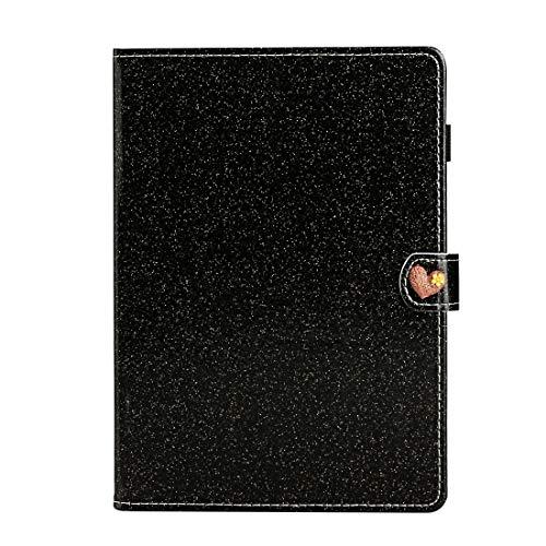 PHONETABLETCASE+ / for Compatible with Huawei MediaPad M6 10.8 Glitter Powder Love Hebilla Horizontal Flip Funda de Cuero con Soporte y Ranuras Tarjetas,Protección de la Cubierta de la Cubierta a PRU