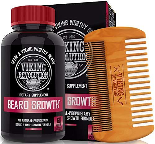 Viking Revolution Men's Beard Growth Vitamin Supplement Tablets - Potent Pills for Maximum Facial Hair Growth for Men… 1