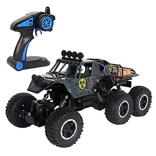 BSQS1 RC Cars 1:10 Scale Remote Control Off Road Monster Truck Vehicle with Two Rechargeable Batteries 2.4GHz Radio Control High Speed Rock Crawlers Electric Fast Racing Buggy Hobby Car Toy for Kids