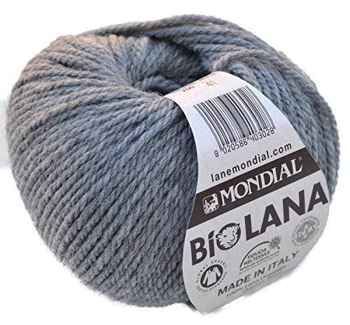 BioLana Naturwolle Fb. 700 - grau, 50g organic wool, Biowolle, 100{0b6b21e18e52d44fd86b8a420f040422cc088853ab5e7f2a12cda198357a818d} reine Schurwolle zum Stricken und Häkeln