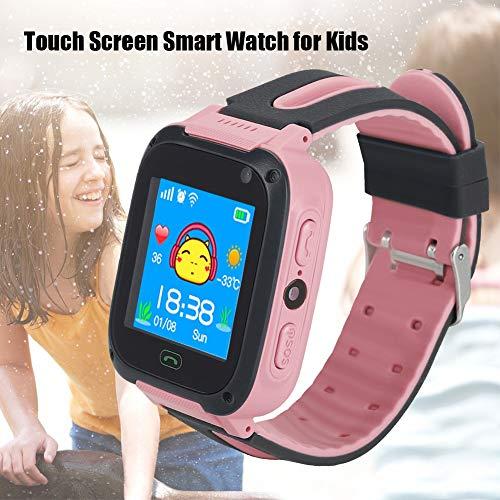 Aeloa Kid Smart Watch, Anti-verlorene Tracker Safe Touch Screen Kid Kinderuhr (Farbe : Rosa)