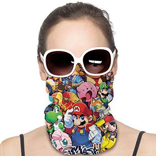 Yellowbiubiubiu Mario Legend Of Zelda Anime Variedad Turbante, protección contra el polvo para hombres y mujeres, funda para cuello, polainas para verano, ciclismo, senderismo, pesca, deportes al aire libre