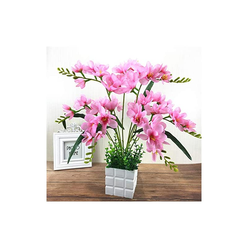silk flower arrangements faironly artificial freesia flower with 9 branches for home living room decor