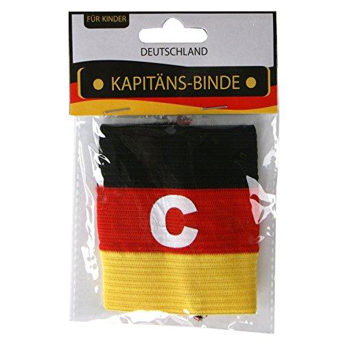Roomando Kapitänsbinde Fussball-Fanartikel für Kopf und Körper Deutschland schwarz-rot-Gold (Kapitäns-Binde)