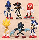 N\a Set Sonic The Hedgehog Figura De Acción Knuffel Amy Tails Metal Sonic PVC Figura Modelo Muñeca N...