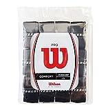 Wilson(ウイルソン) テニス バドミントン グリップテープ PRO OVERGRIP(プロオーバーグリップ) 12個入り ブラック WRZ4022BK ウィルソン