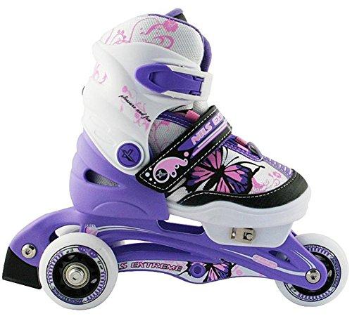 Kinder Inline Skates Nils Extreme NJ9128A Inliner Rollschuhe (Violet, 26-29)