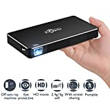 Smart Movie Projector with 3D,Dolby Sound, 300 ASNI Lumen DLP Full HD Video Projector Support 1080P, Android 7.1,HDMI Multimedia Input for Home Business and Education (Pocket Projector)