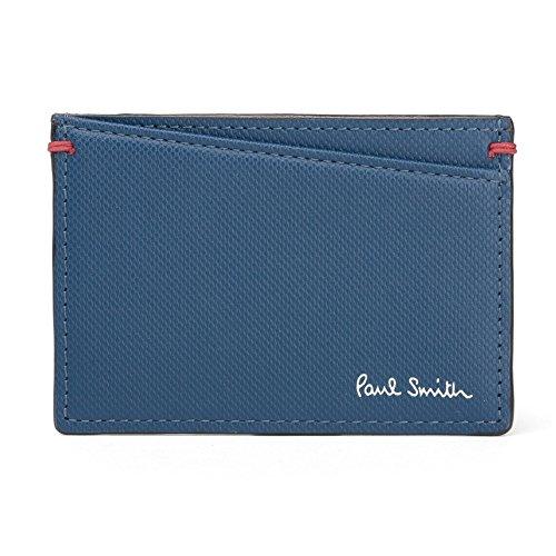 ポールスミス Paul Smith メンズ 定期入れ パスケース 863488 P932 カラーコントラスト 牛革 レザー 本革 CONTRAST COLOR PASS CASE ショップ袋 専用箱付 (ブルー)