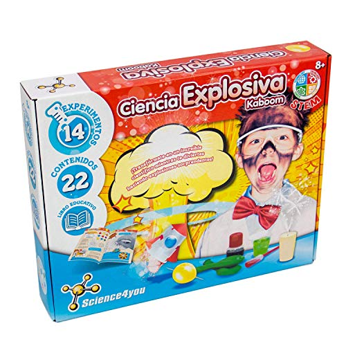 Science4you-5600983608658 Ciencia Explosiva Kaboom para Niños +8 Años, Multicolor (1) , color/modelo surtido