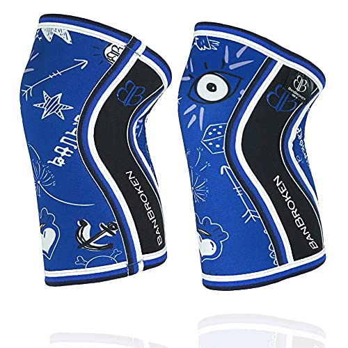 RODILLERAS BLUE DRAW (2 unds) - 5mm Knee Sleeves - Halterofilia, deporte...