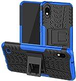 Galaxy A10 Case, Samsung A10 Case 6.2' [Not fit Galaxy A10e 5.8'] SKTGSLAMY Shockproof Tough Rugged Dual Layer Protective Case Hybrid Kickstand Cover for Samsung Galaxy A10 6.2' (Blue)