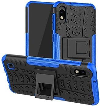 Galaxy A10 Case Samsung A10 Case 6.2  [Not fit Galaxy A10e 5.8 ] SKTGSLAMY Shockproof Tough Rugged Dual Layer Protective Case Hybrid Kickstand Cover for Samsung Galaxy A10 6.2   Blue