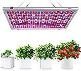 Bozily Lámpara de Plantas, Lámpara de Cultivo LED de 300W para Plantas de Interior, Cabezal Dual de Espectro Completo, 338 LED, Auto On/Off, para Siembra en Crecimiento, Germinación y Floración