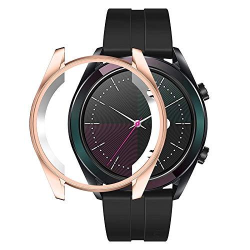 BZN Smart Watch Case per Huawei GT 42mm Elegante Custodia Protettiva in TPU (Nero) (Color : Rose Gold)