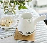 Jarra De Leche Garrito de Crema de Porcelana Blanca Jarra pequeña de Salsa de Leche Crema de Leche de Leche Syrup de café Servidor