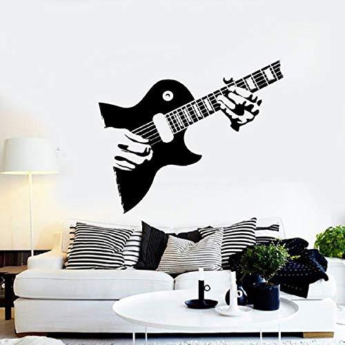 Gitarrist Wandtattoo Musik Rock coole Kinder und Jugendliche Schlafzimmer Home Decoration Wandkunst Kunst Wandaufkleber 42 * 50cm
