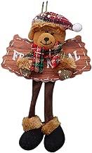 GXOK Christmas Wooden Sign Pendants Old Man Snowman Deer Bear Cloth Fireplace Window Xmas Christmas Ornaments Pendant Decoration