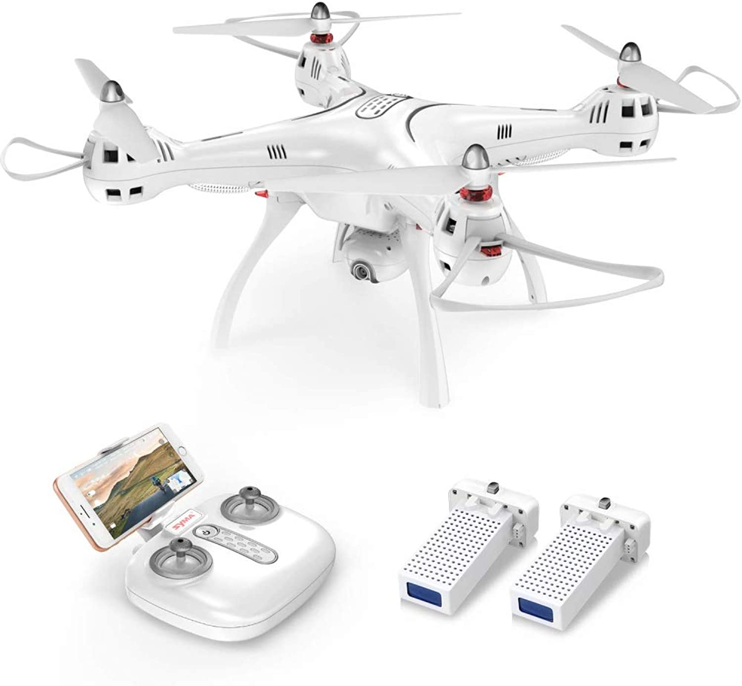 TLgf Quadcopter, RC Drone mit FPV-Adjustable Wide-Angle 720P HD Camera Live Video, Altitude Hold und Headless Mode Funktion