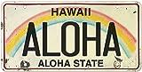 Pacifica Island Art 6in x 12in Vintage Hawaiian Embossed License Plate - Aloha